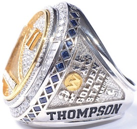 Golden State Warriors Replica 2015 Championship Rings & Trophies Seeing Strong Interest 4