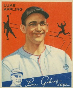 1934 Goudey Luke Appling #27