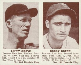 1941 Double Play #105 Lefty Grove #106 Bobby Doerr