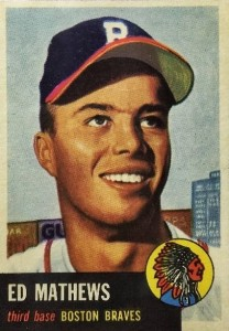 Top 10 Eddie Mathews Baseball Cards 9