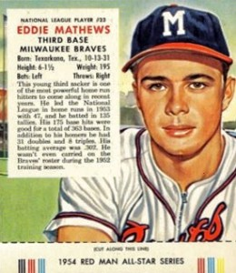 Top 10 Eddie Mathews Baseball Cards 1