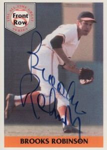 1992 Front Row All-Time Greats Brooks Robinson Autograph #3