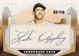 2004 Upper Deck SP Legendary Cuts Luke Appling Cut Autograph