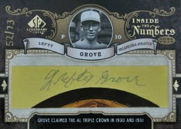 2007 Upper Deck SP Legendary Cuts Lefty Grove Cut Autograph
