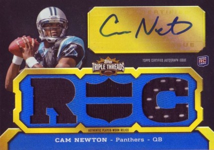 Cam Newton Rookie Cards Checklist and Autographed Memorabilia Guide 3