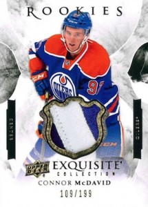 2015-16 Upper Deck Black Diamond Hockey Exquisite Rookies Patch Connor McDavid
