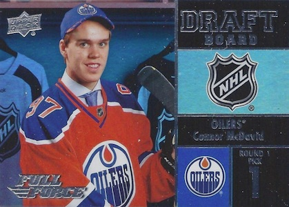 2015-16 Upper Deck Full Force Hockey Draft Board McDavid