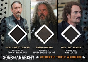 2015 Cryptozoic Sons of Anarchy Seasons 6 and 7 Wardrobe Triple