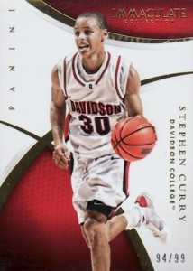 2015 Immaculate Collegiate Base Steph Curry