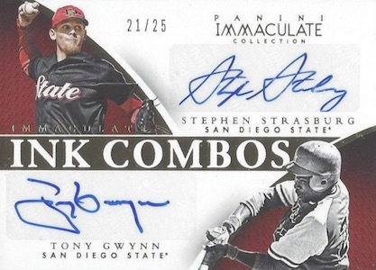 2015 Immaculate Collegiate INK Combos