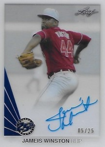 2015 Leaf 25th Baseball Clear Autograph Blue Jameis Winston
