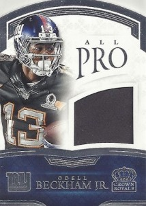 2015 Panini Crown Royale Football All Pro Materials Die-Cuts Beckham
