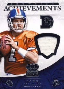 2015 Panini Crown Royale Football Crowning Achievements Relic Elway