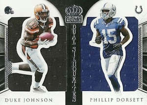 2015 Panini Crown Royale Football Dual Silhouettes Relics