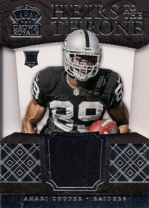 2015 Panini Crown Royale Football Heirs to the Throne Die-Cut Relics Amari Cooper