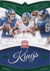 2015 Panini Crown Royale Football King's Court Die-Cuts Green