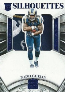 2015 Panini Crown Royale Football Rookie Silhouettes Blue Patch Gurley