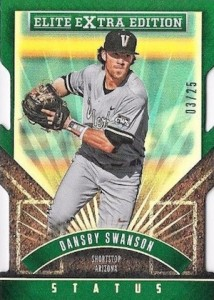 2015 Panini Elite Extra Edition Baseball Base Green Status Swanson