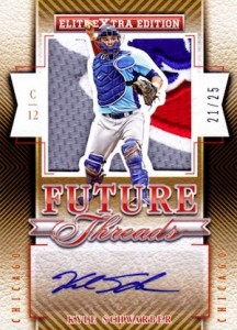 2015 Panini Elite Extra Edition Baseball Future Threads Silhouette Signatures Schwarber