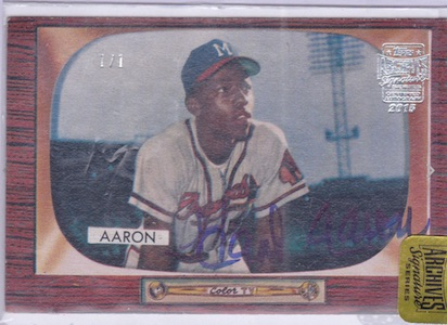 2015 Topps Archives Signature Series Baseball hank Aaron