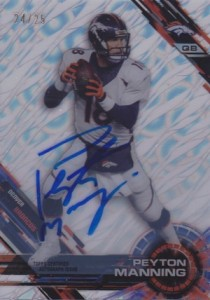 2015 Topps High Tek Football Autographs Clouds Diffractor Peyton Manning