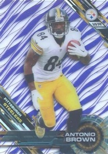2015 Topps High Tek Football Patterns Grass Purple Antonio Brown
