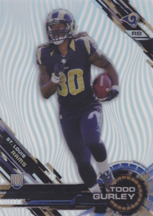 2015 Topps High Tek Football Patterns Waves Todd Gurley