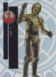 2015 Topps High Tek Star Wars Base C-3PO