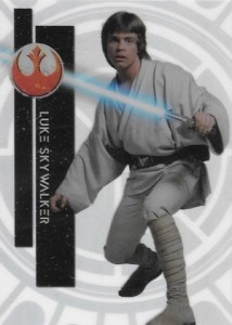 2015 Topps High Tek Star Wars Base Luke Skywalker