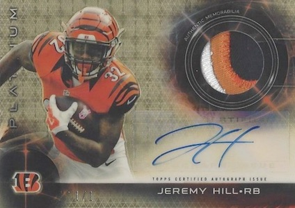 2015 Topps Platinum Football Cards - Review Added 29