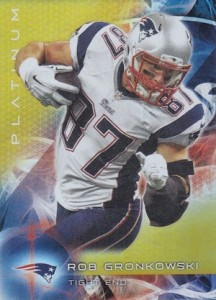 2015 Topps Platinum Football Base Gold Gronkowski