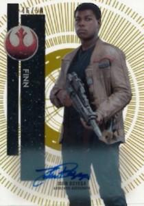 2015 Topps Star Wars High Tek Autograph Finn John Boyega
