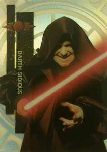 2015 Topps Star Wars High Tek Variation Darth Sidious 5B