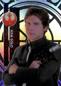 2015 Topps Star Wars High Tek Variation Han Solo 3A