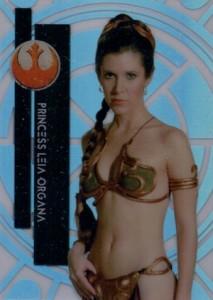 2015 Topps Star Wars High Tek Variation Leia 1B Slave Bikini