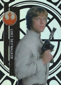 2015 Topps Star Wars High Tek Variation Luke Skywalker 1A Blaster