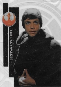2015 Topps Star Wars High Tek Variation Luke Skywalker 1B Dark Robe