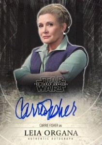 2015 Topps Star Wars The Force Awakens Series 1 Autograph Carrie Fisher Leia