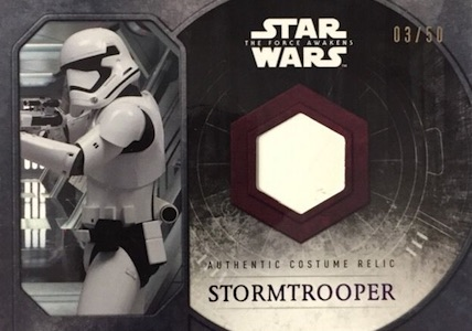 2015 Topps Star Wars The Force Awakens Series 1 First Order Stormtrooper Costume Relic