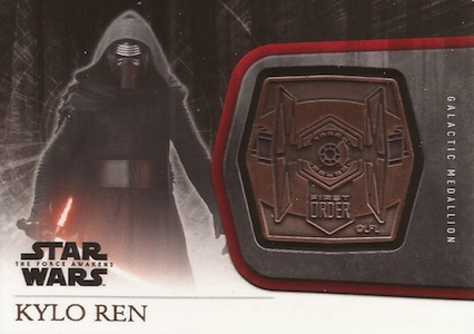 2015 Topps Star Wars The Force Awakens Series 1 Medallion