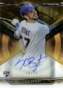 2015 Topps Strata Autographs Kris Bryant RC Gold