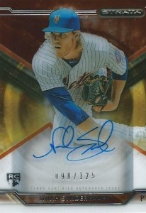 2015 Topps Strata Baseball Autographs Orange Syndergaard