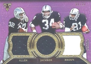 2015 Topps Triple Threads Football Relic Trios Purple