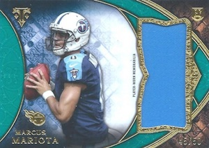 2015 Topps Triple Threads Football Rookie Jumbo Relics Mariota
