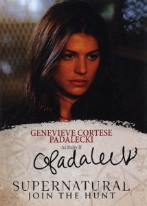 2016 Cryptozoic Supernatural Seasons 4-6 Autographs Genevieve Cortese Padalecki as Ruby II