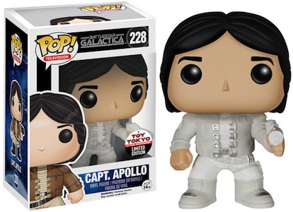 Battlestar Galactica Funko Pop Apollo White Exclusive