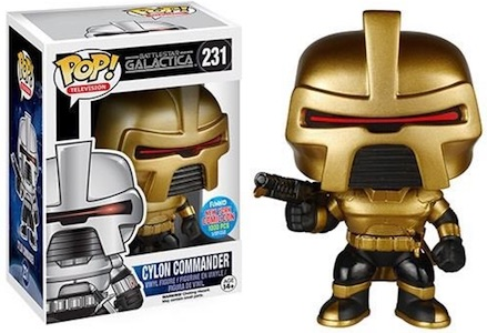 Battlestar Galactica Funko Pop Cylon Commander Gold White Exclusive