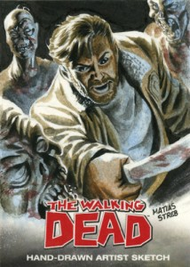 Cryptozoic Walking Dead Sketch Card