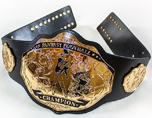 Celebrate Fantasy Football Glory with a Championship Ring, Trophy or Belt 1