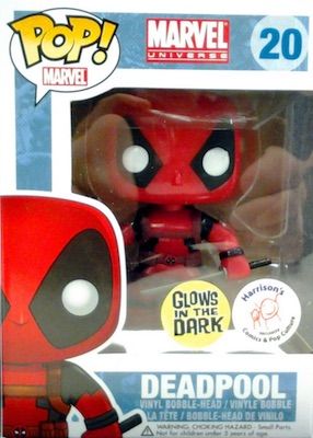 Pop Funko Deadpool Vinyl Figures 20 GID Glow red